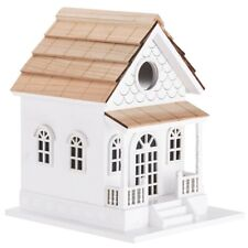 New! Outdoor Hand Made Birdhouse - Bird Cottage Perch - Country Colonial