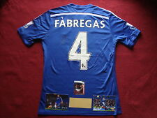 CHELSEA CESC FABREGAS GENUINE SIGNED HOME 2014/15 SHIRT- SMALL- NEW- PHOTO PROOF