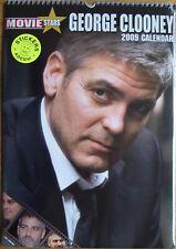 George Clooney Kalender 2009 Spiralbindung 30 x 42 cm 12 Poster + Sticker