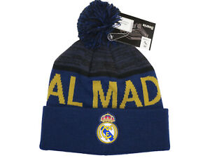 Real Madrid 2020 Official Navy Blue Cap Beanie Hat Knit Pom Winter Soccer NEW