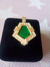 KORLOFF, pendentif en or jaune 18 carats ,malachite et 27 diamants