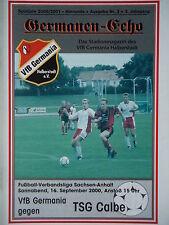 Programm 2000/01 VfB Germania Halberstadt - TSG Calbe