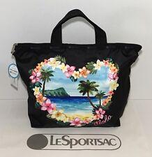 NEW LeSportsac Easy Carry Tote Aloha Sunrise Hawaiian Exclusive Black 2431 K586