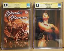 WONDER WOMAN #750 CGC 9.8 SS ALEX ROSS SIGNED COVER A & B HOMAGE VARIANT SET