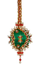 The Cracker Box Inc Christmas Ornament Kit Holiday Festival on emerald with red