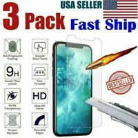 For All iPhones 12 11 Pro Max 11 XR 8 7 6 Tempered Glass Screen Protector 3-Pack
