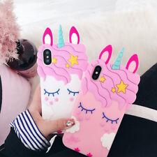 3D Cartoon Unicorn Soft Silicone Phone Case For Samsung A50 S9 J6 Huawei Y9 LG
