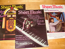 Sheet Music Magazine 3 Issues Sept / Oct 1990 May/June 1991 July/Aug 1991