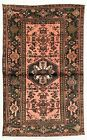 4 x 6 Hand Knotted Coral Birds Tribal Wool Nomadic Zanjan Oriental Area Rug