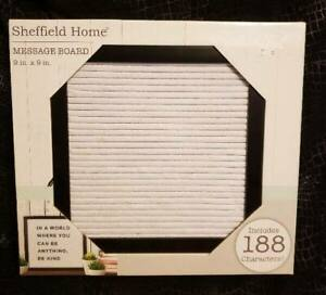"""Sheffield Home Message Board 9""""X9"""" New In Box With 188 Letters & Characters"""