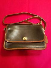 Vintage Coach 2047 City bag Black leather Shoulder bag Crossbody Rare!!!