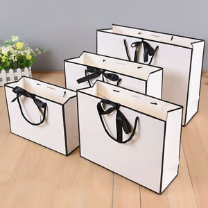 Party Bags Kraft Paper Gift Bag Twisted Handles Recyclable Wedding Accessories