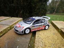 SOLIDO PEUGEOT 206 WRC 2002 grise comme neuve sans boite.
