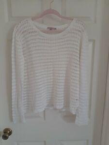 Calypso St Barth Linen Crochet Sweater M