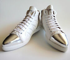 new $695 MIU MIU PRADA Runway Hightop Sneaker White Nappa Leather EU40 US9 UK6.5