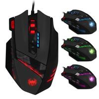 12 LED Buttons 4000DPI Zelotes C-12 Programmable Optical Wired Gaming Mouse Mice