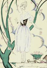 Gazette Du Bon Ton Robert BONFILS LES FLEURS DU VOISIN Fashion POCHOIR Art Deco