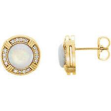 OPALE & 1/6 ct. tw. Orecchini di diamanti in 14k oro giallo