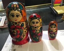 Vintage Traditional Russian Matryoshka Nesting-Dolls Hand-Made