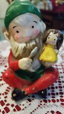 Vintage Homco Elf Figurine Making Doll 5205 Christmas Santa's Workshop