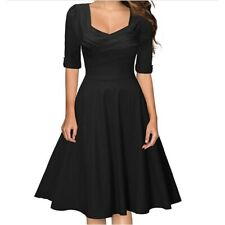 Miusol Vintage Inspired Swing Cocktail Dress Black UK 16 XL LN190 SS 08