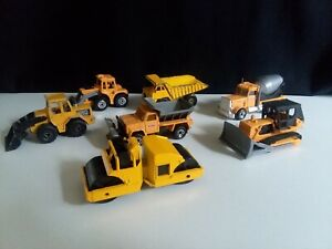 Matchbox and Hot Wheels Construction Trucks Die Cast Vehicles Lot of 7