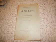 1911.La noblesse.action française.Léon de Montesquiou