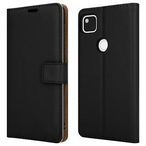 For Google Pixel 4A Case Magnetic Flip Leather Wallet Phone Cover + Screen Guard