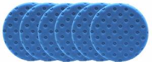 "6 PK Lake Country Blue Light Polishing CCS Foam Pads DA 5.5"""