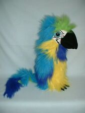 THE PUPPET COMPANY BLUE & GOLD MACAW BIRD Large Hand Glove Puppet Toy With Sound