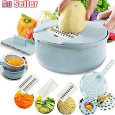 9-IN-1 Mandoline Gemüseschneider Kartoffel Zwiebel Karottenreibe Ch Y8P2