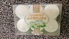 6 x 2 inch  White Orchid scented  pillar candles