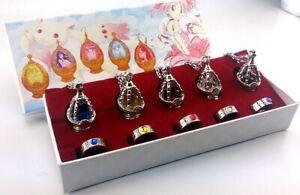 Puella Magi Madoka Magica Cosplay Akemi Homura Soul Gem Pendant Necklace Gift