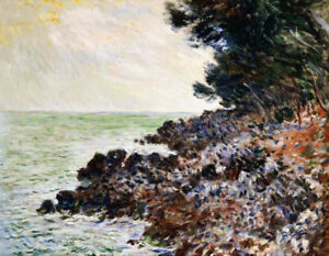 """CLAUDE MONET """"Cap Min"""" CANVAS OR PAPER great art! choose SIZE, from 55cm up, NEW"""