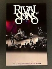 Rival Sons - Live At Fingerprints 3/14/13 Concert Poster LTD Original Press KISS