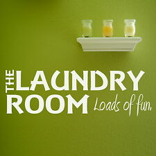 Laundry Room - Interior Wall Quote / Large Art Decor / Removable Wall Quotes x91