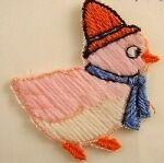 Vintage Chicken Motif/Patch. Made in Switzerland in the 1960's