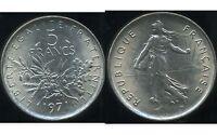 5 francs  SEMEUSE   1971  SUP +