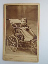 Leipzig - Kind im Kinderwagen / CDV