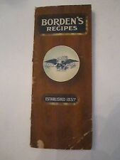 VINTAGE BORDEN'S RECIPES BOOKLET - VERY OLD - NICE CONDITION -  TUB ABC