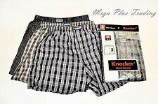 5e3a24de0a96 Knocker Mens Plaid Boxer Shorts Underwear Pack of 3 Pairs Large