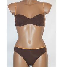 Prima Classe Costume due pezzi marrone bikini Alviero Martini S M