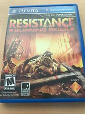 Resistance: Burning Skies (PlayStation Vita, 2012) Tested, working!
