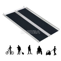 4'/6'Aluminum Folding Loading Wheelchair Scooter Mobility Ramp Portable Non-Slip