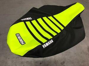 Yamaha Raptor 700 700R Seat Cover 2006-2019 BLACK / NEON YELLOW / BLACK RIB #193