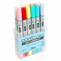 Too COPIC Ciao Markers 12 Colors Set w/ Tracking NEW
