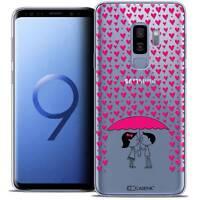 """Coque Crystal Gel Pour Samsung Galaxy S9+ (6.2"""") Souple Love Pluie d'Amour"""