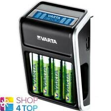 VARTA LCD SCREEN PLUG CHARGER 57677 FOR AA AAA 9V USB DEVICES + 4 AA BATTERIES