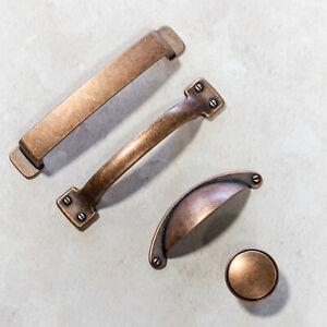 Antique Copper Handles   Cup, Knob & D Handles   Kitchen, Cupboard, Drawer, Door