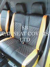 TO FIT A MERCEDES SPRINTER VAN, LWB, SEAT COVERS, ROSSINI DIAMOND ORANGE/BLK